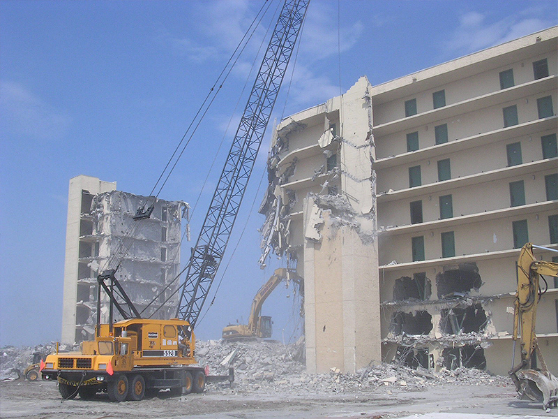 Demolition of hotel Jacksonville Florida