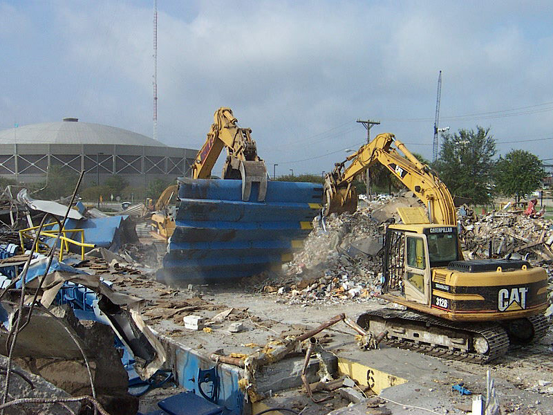 Demolition of the Wolfson Park